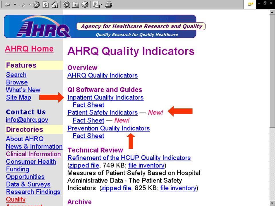 Risultati: indicatori sperimentati e validati Indicatori NQMC + ASSR: dalle cartelle cliniche Indicatori che, per alcune patologie o procedure selezionate, misurano levenienza di: buone pratiche, complicanze, eventi indesiderati 7 indicatori sullinfarto miocardico acuto (fonte NQMC) 7 indicatori sullinfarto miocardico acuto (fonte NQMC) 3 indicatori su scompenso cardiaco (fonte NQMC) 3 indicatori su scompenso cardiaco (fonte NQMC) 5 indicatori su chirurgia di protesi danca (ASSR) 5 indicatori su chirurgia di protesi danca (ASSR) 6 indicatori su chirurgia del colon (ASSR): 6 indicatori su chirurgia del colon (ASSR): 14 indicatori su ictus cerebrale (fonte NQMC - CMS) 14 indicatori su ictus cerebrale (fonte NQMC - CMS)