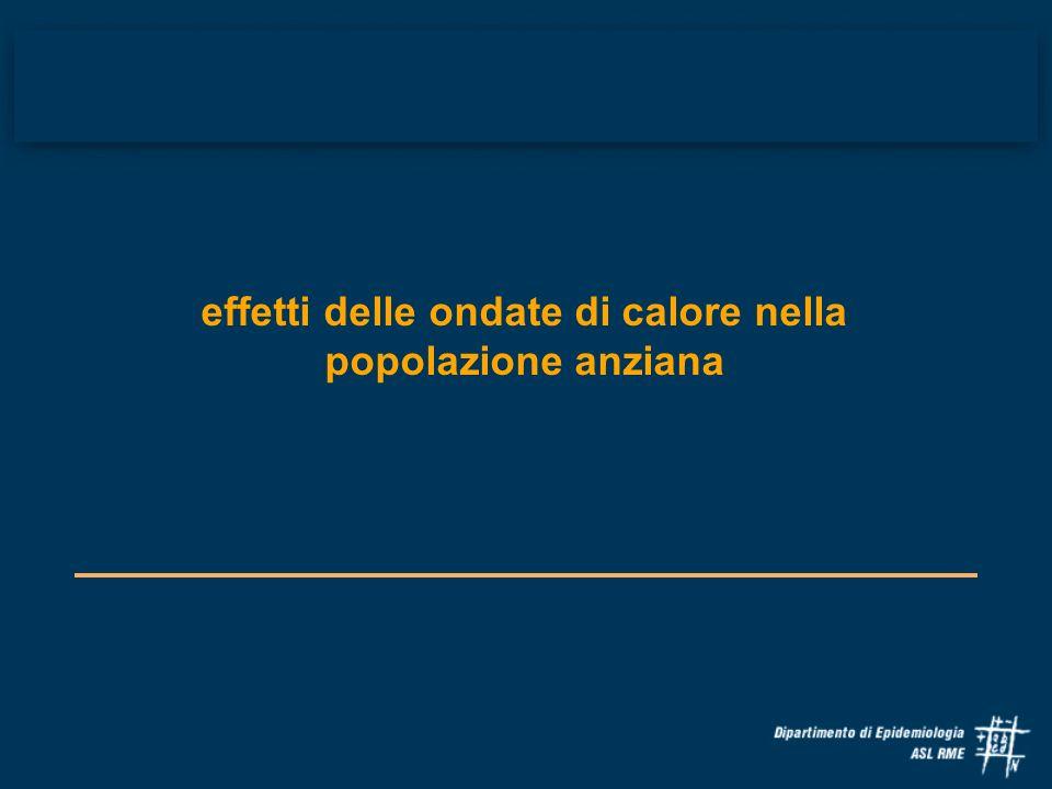 Regione Lazio: Piano Operativo Regionale di intervento per la prevenzione degli effetti sulla salute umana nelle ondate di calore 1.