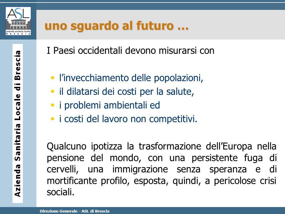 Direzione Generale - ASL di Brescia uno sguardo al futuro … I Paesi occidentali devono misurarsi con linvecchiamento delle popolazioni, il dilatarsi d