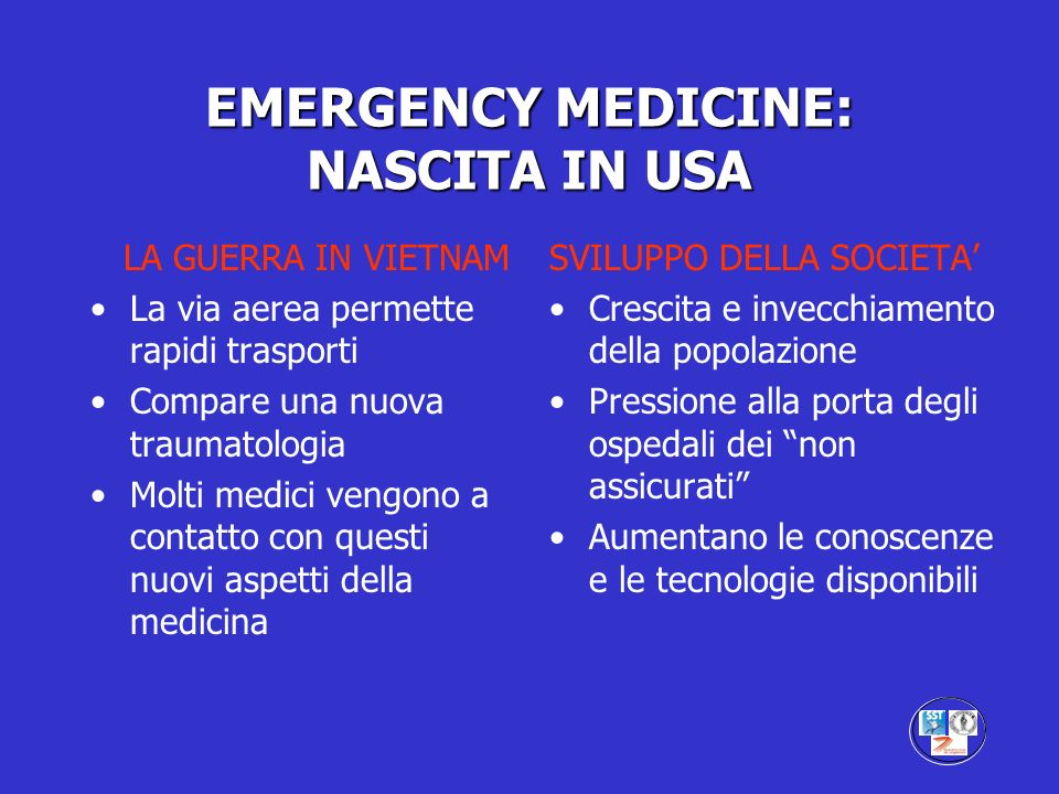 EMERGENCY MEDICINE IN USA Alla base della nascita il pragmatismo della cultura americana : ….and if he is found competent let him then be permitted and licensed to practice ophtalmology.