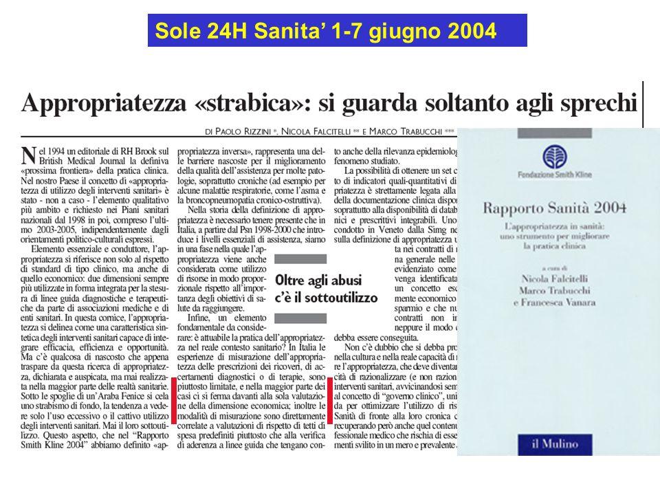 Sole 24H Sanita 1-7 giugno 2004