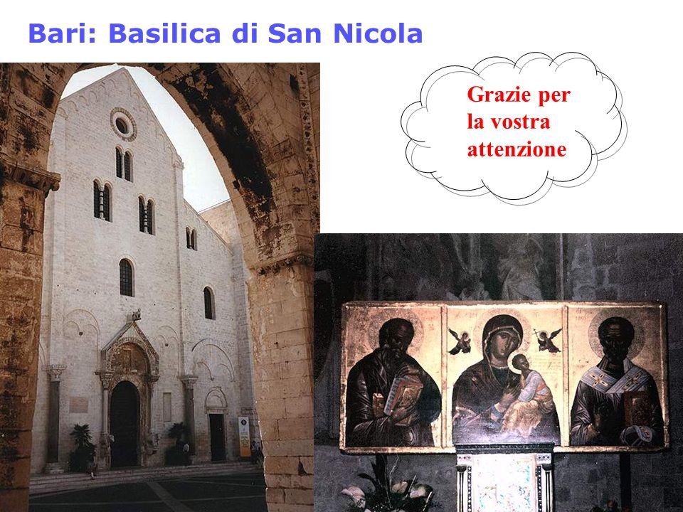 Bari: Basilica di San Nicola Grazie per la vostra attenzione