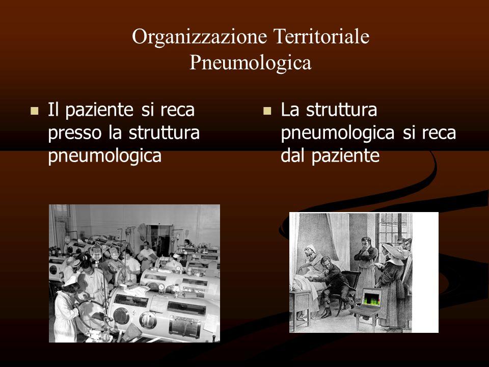 Il paziente si reca presso la struttura pneumologica La struttura pneumologica si reca dal paziente Organizzazione Territoriale Pneumologica