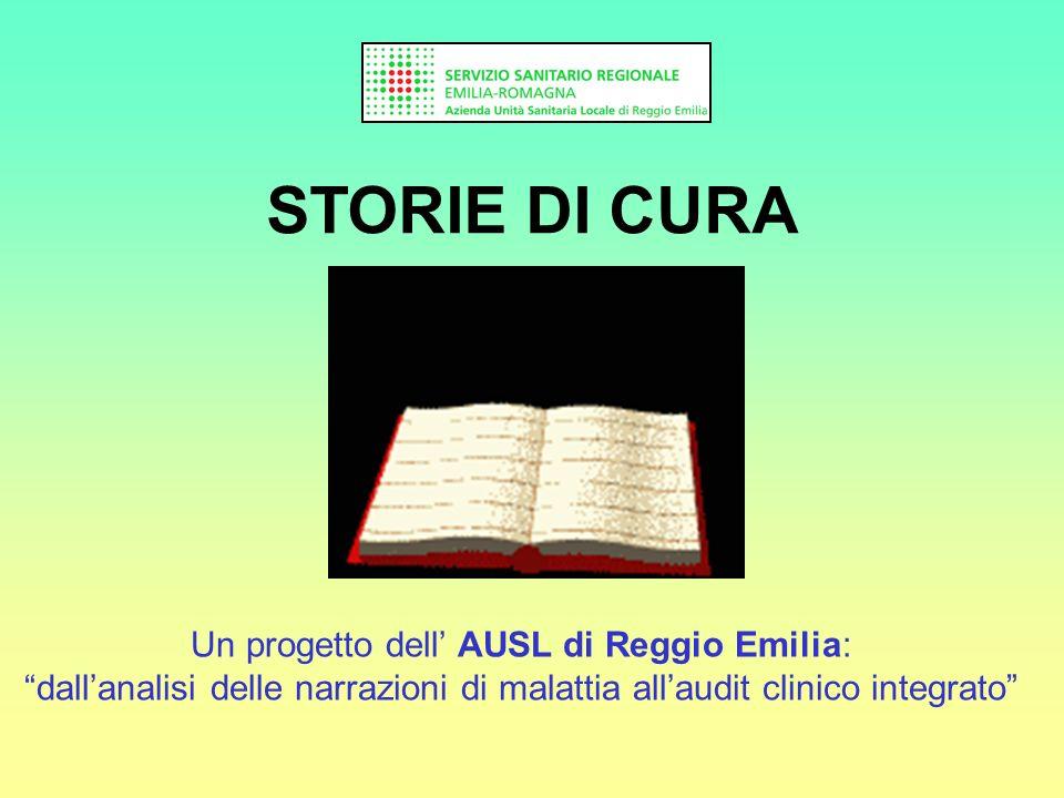 STORIE DI CURA Un progetto dell AUSL di Reggio Emilia: dallanalisi delle narrazioni di malattia allaudit clinico integrato