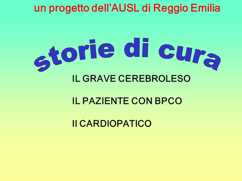 un progetto dellAUSL di Reggio Emilia IL GRAVE CEREBROLESO IL PAZIENTE CON BPCO Il CARDIOPATICO