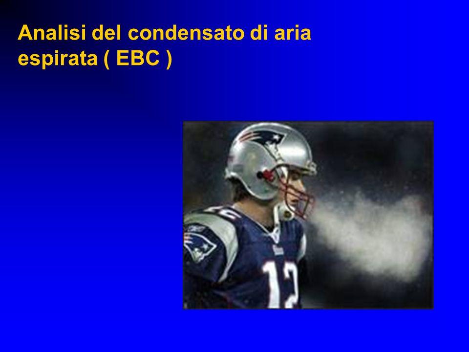 Analisi del condensato di aria espirata ( EBC )