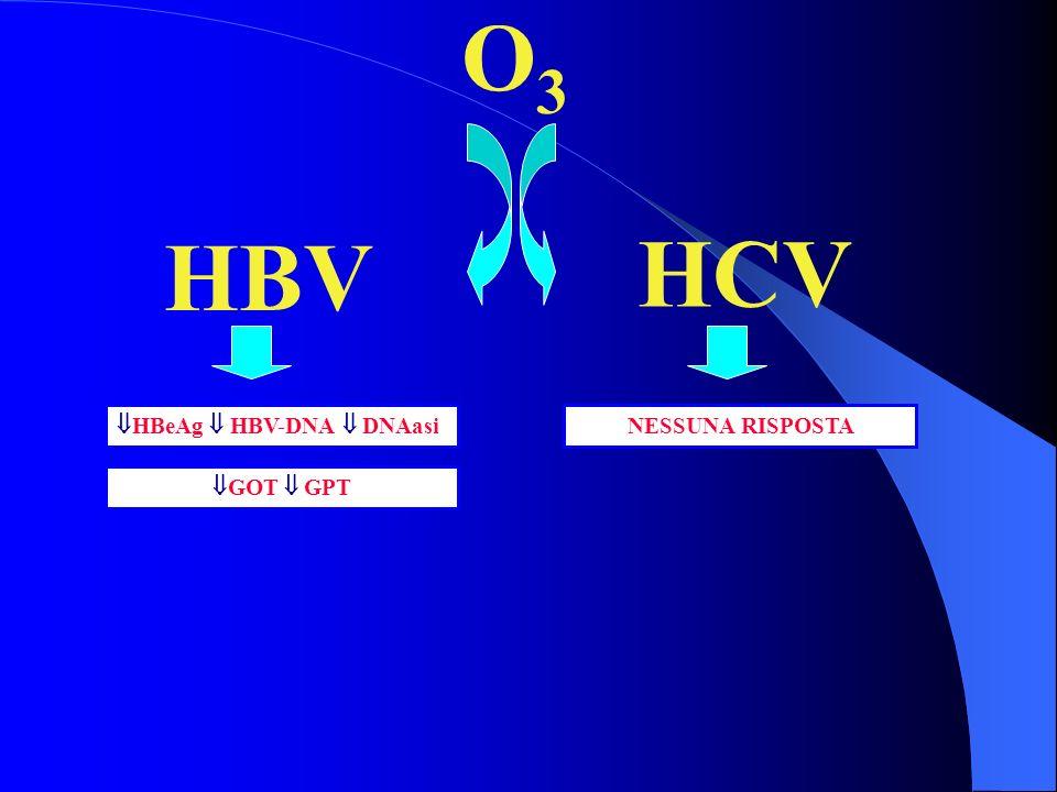 O3O3 HBV HCV HBeAg HBV-DNA DNAasi GOT GPT NESSUNA RISPOSTA