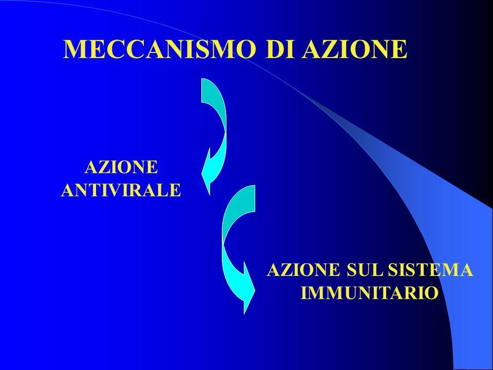 MECCANISMO DI AZIONE AZIONE ANTIVIRALE AZIONE SUL SISTEMA IMMUNITARIO