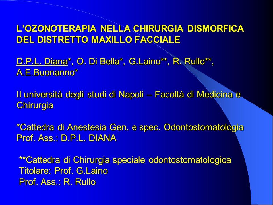 LOZONOTERAPIA NELLA CHIRURGIA DISMORFICA DEL DISTRETTO MAXILLO FACCIALE D.P.L. Diana*, O. Di Bella*, G.Laino**, R. Rullo**, A.E.Buonanno* II universit