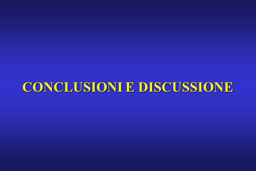 CONCLUSIONI E DISCUSSIONE