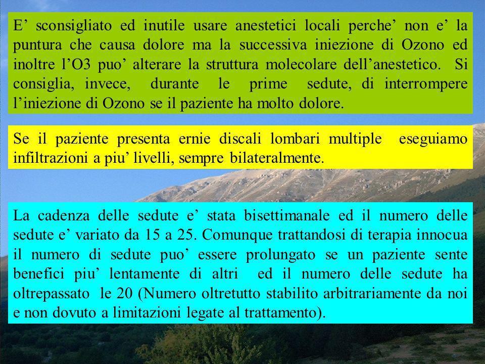 La Metodica da noi usata e quella ideata da Cesare Verga e da Lui chiamata DISCOSAN a cui abbiamo apportato qualche modifica. Essa consiste nellinfilt