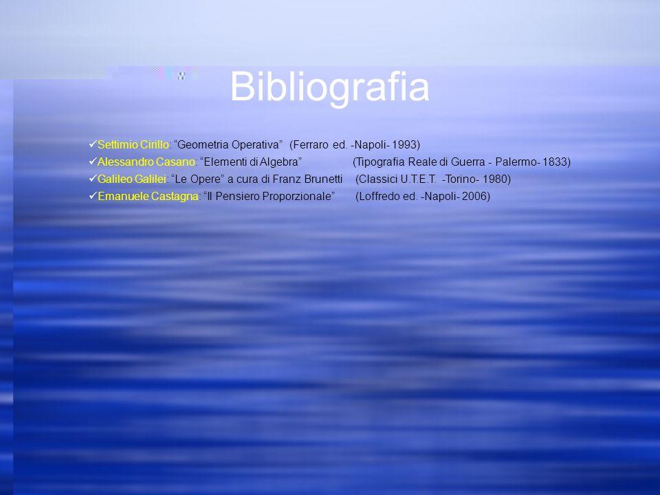 Bibliografia Settimio Cirillo: Geometria Operativa (Ferraro ed.