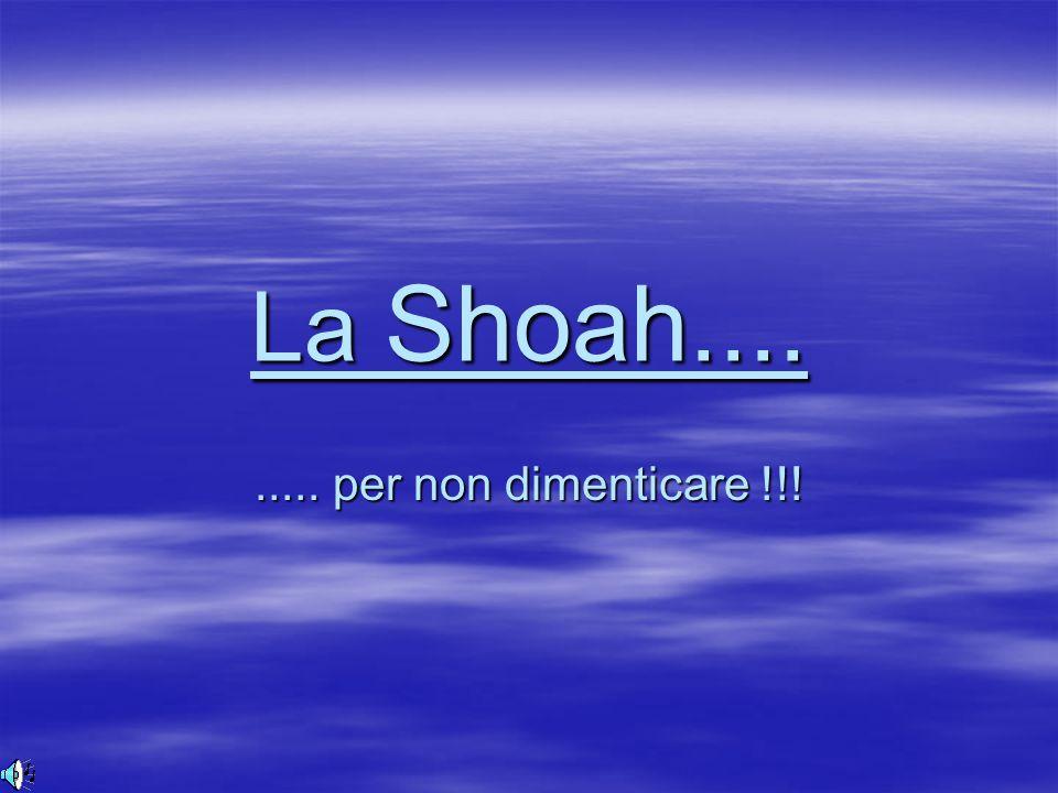 1 1 1 La Shoah......... per non dimenticare !!!