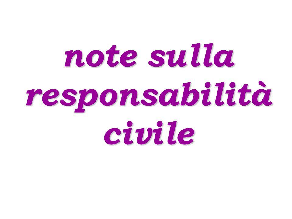 note sulla responsabilità civile