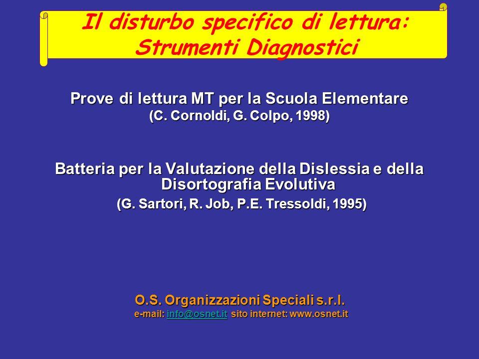Prove di lettura MT per la Scuola Elementare (C.Cornoldi, G.