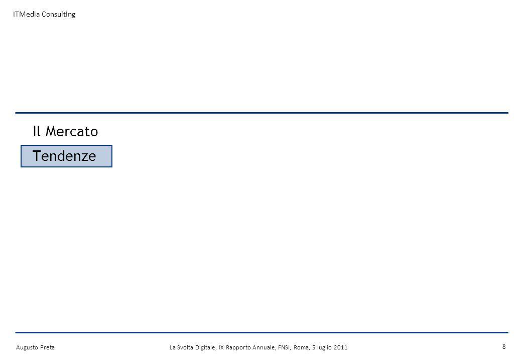 Augusto PretaLa Svolta Digitale, X Rapporto Annuale, FNSI, Roma, 27 settembre 2012 LHD diventa mainstream Nel 2011 oltre 500 canali HD di diverso genere in WE.