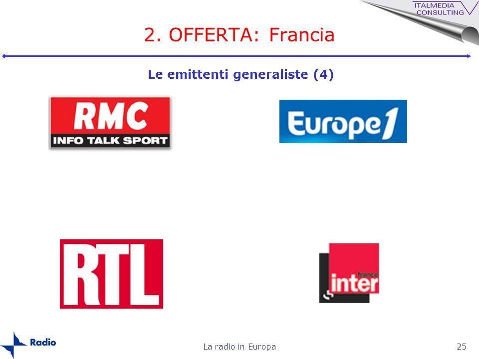 La radio in Europa25 2. OFFERTA: Francia Le emittenti generaliste (4)