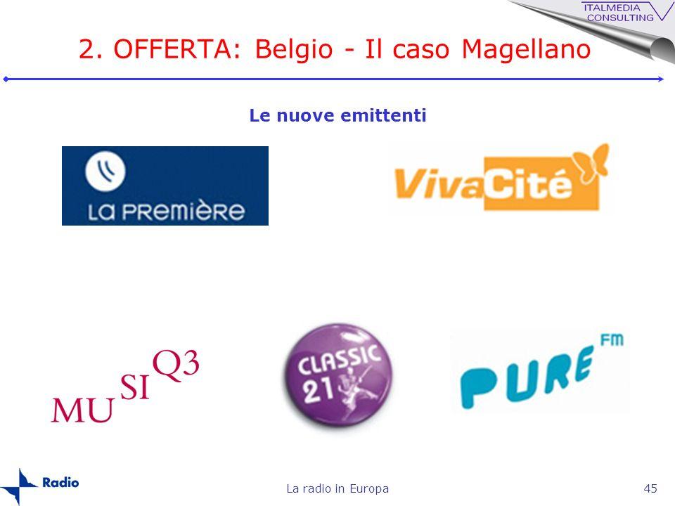 La radio in Europa45 Le nuove emittenti 2. OFFERTA: Belgio - Il caso Magellano
