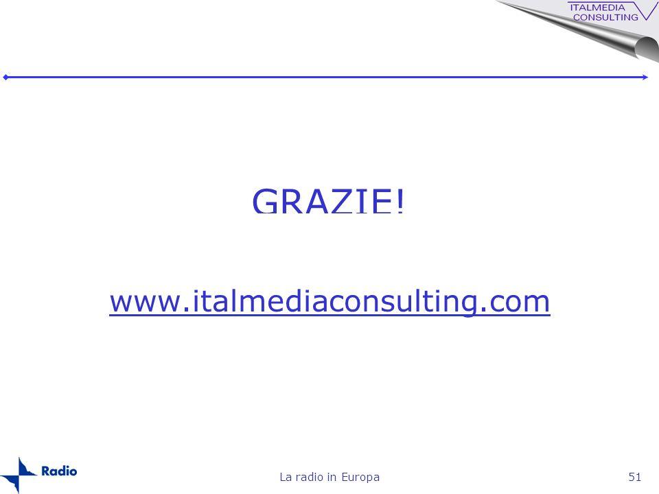 La radio in Europa51 GRAZIE! www.italmediaconsulting.com