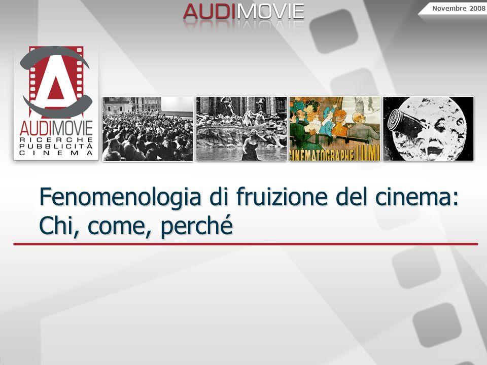 Novembre 2008 Fenomenologia di fruizione del cinema: Chi, come, perché
