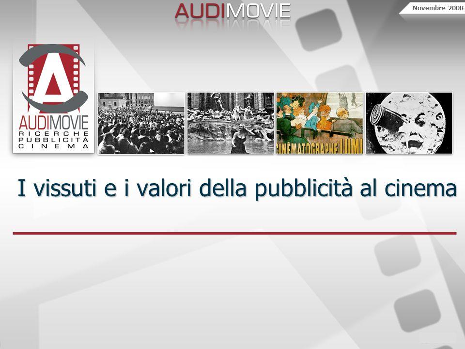 Novembre 2008 I vissuti e i valori della pubblicità al cinema