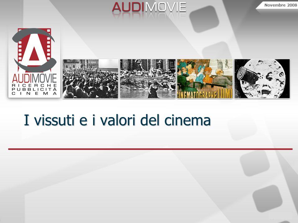 Novembre 2008 I vissuti e i valori del cinema