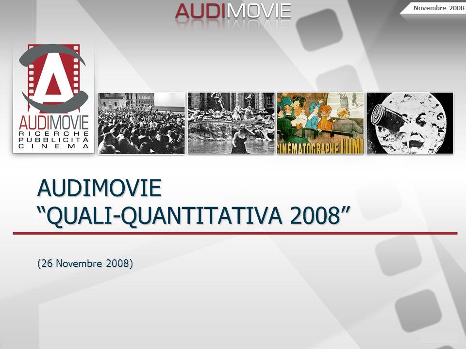 Novembre 2008 AUDIMOVIE QUALI-QUANTITATIVA 2008 (26 Novembre 2008)