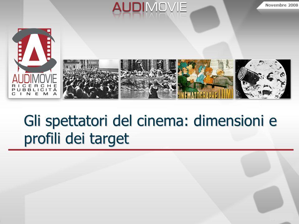 Novembre 2008 Gli spettatori del cinema: dimensioni e profili dei target