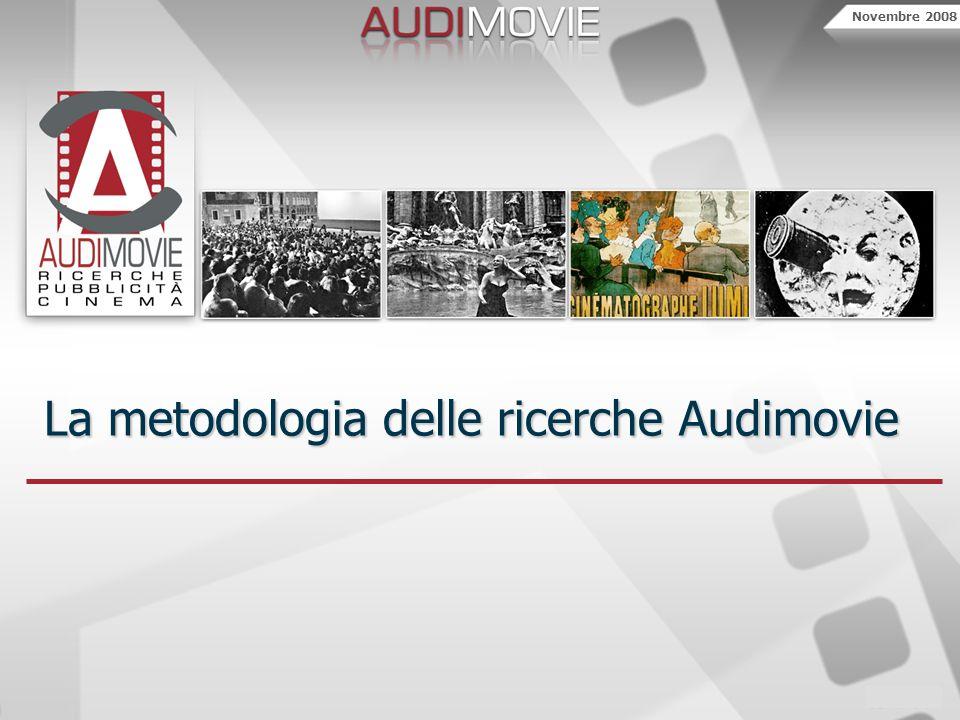 Novembre 2008 La metodologia delle ricerche Audimovie
