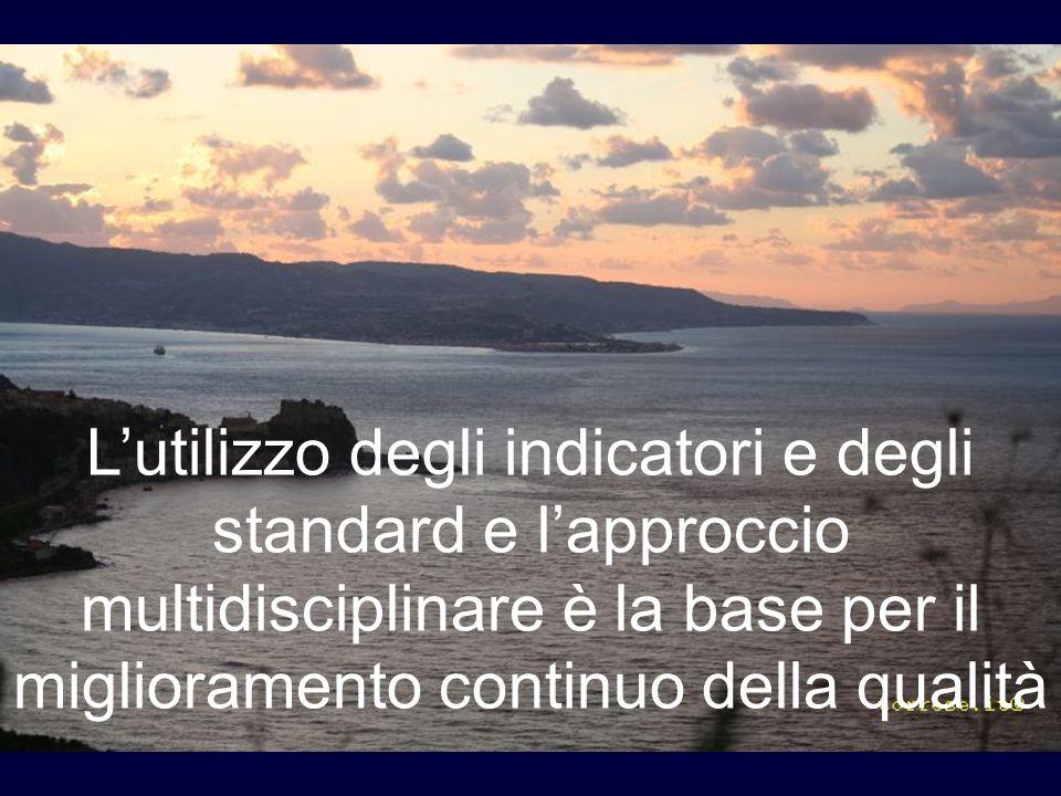 Lutilizzo degli indicatori e degli standard e lapproccio multidisciplinare è la base per il miglioramento continuo della qualità