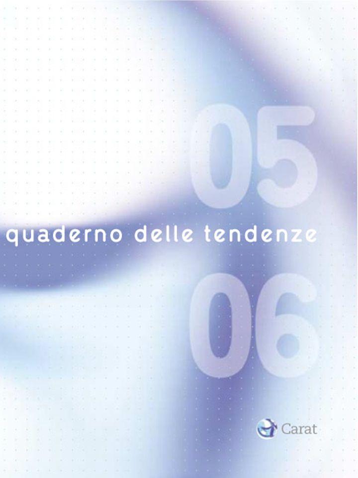 Carat Italia ha il piacere di presentarvi il quaderno delle tendenze 05/06, uno studio esclusivo dedicato alla lettura delle tendenze che stanno delineando lo scenario degli anni a venire, ma anche un laboratorio di osservazioni permanenti sul panorama socio- culturale della società italiana.