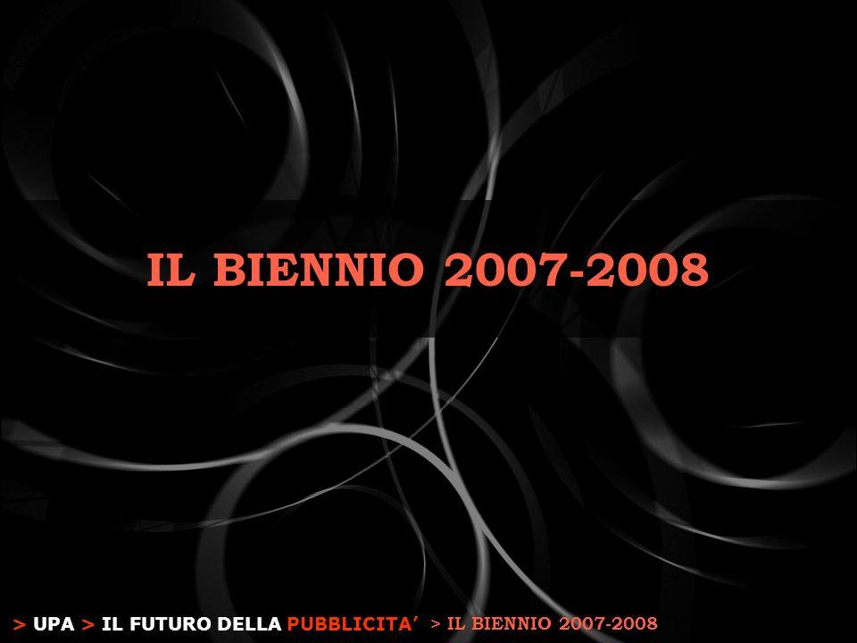 > UPA > IL FUTURO DELLA PUBBLICITA IL BIENNIO 2007-2008 > IL BIENNIO 2007-2008