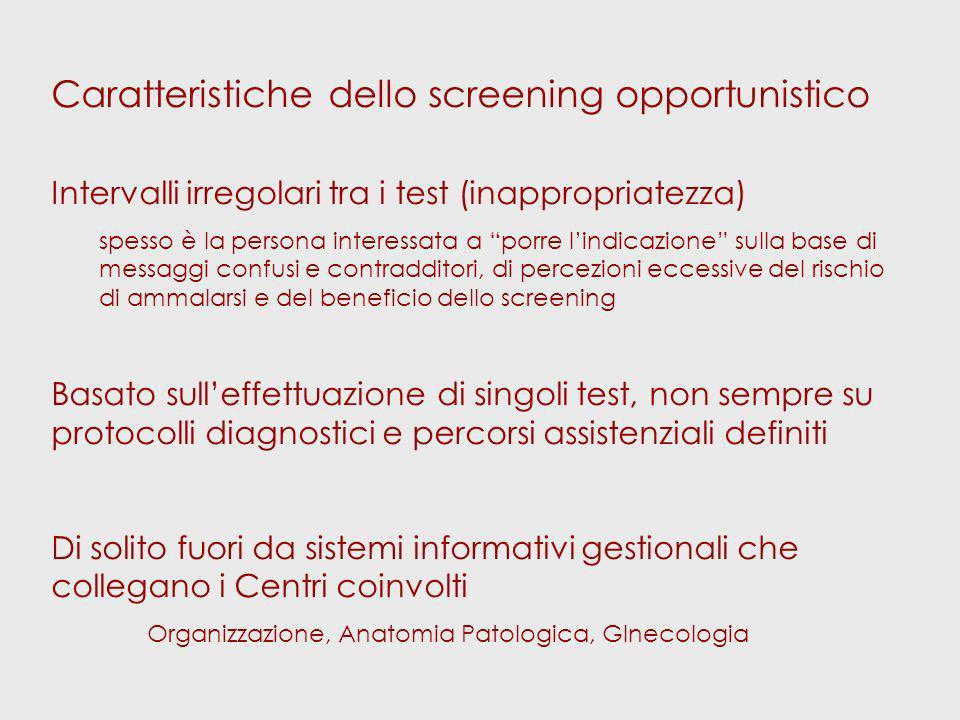 … due richiami Qualità del Pap test intervallo corretto (numerosità) Cosa succede dopo un Pap test positivo?