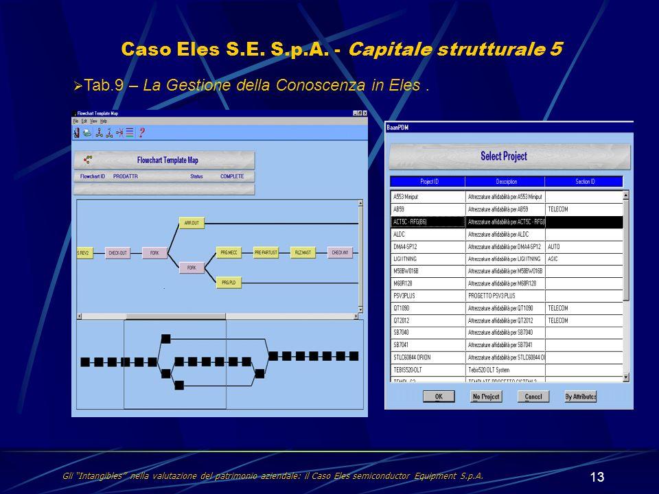 13 Caso Eles S.E. S.p.A. - Capitale strutturale 5 Gli Intangibles nella valutazione del patrimonio aziendale: il Caso Eles semiconductor Equipment S.p
