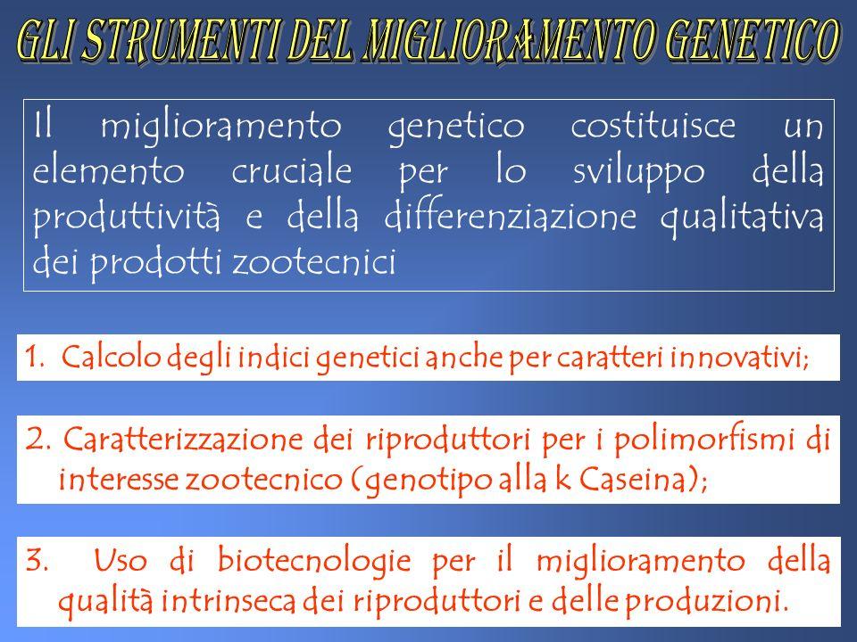 Il miglioramento genetico costituisce un elemento cruciale per lo sviluppo della produttività e della differenziazione qualitativa dei prodotti zootec
