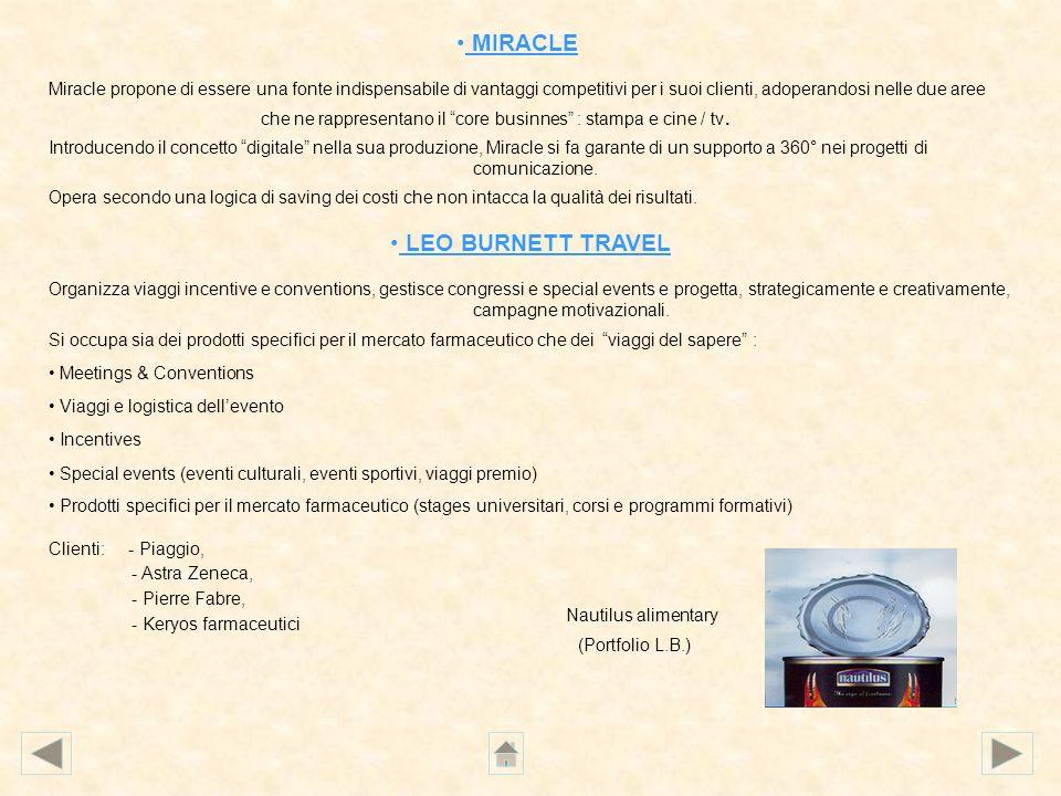 MIRACLE Miracle propone di essere una fonte indispensabile di vantaggi competitivi per i suoi clienti, adoperandosi nelle due aree che ne rappresentan