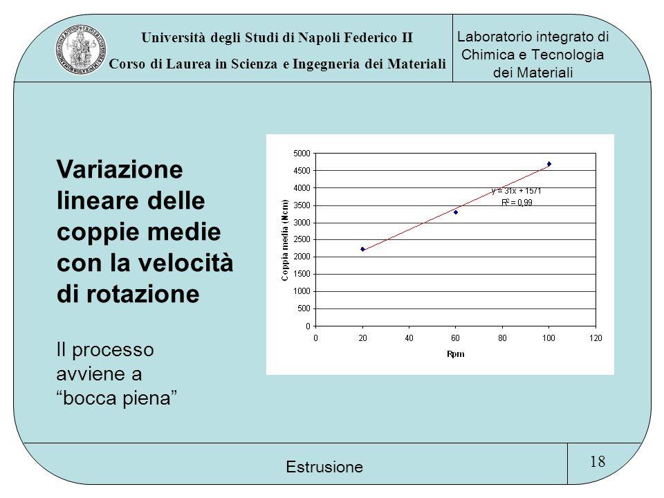 Università degli Studi di Napoli Federico II Corso di Laurea in Scienza e Ingegneria dei Materiali Laboratorio integrato di Chimica e Tecnologia dei M
