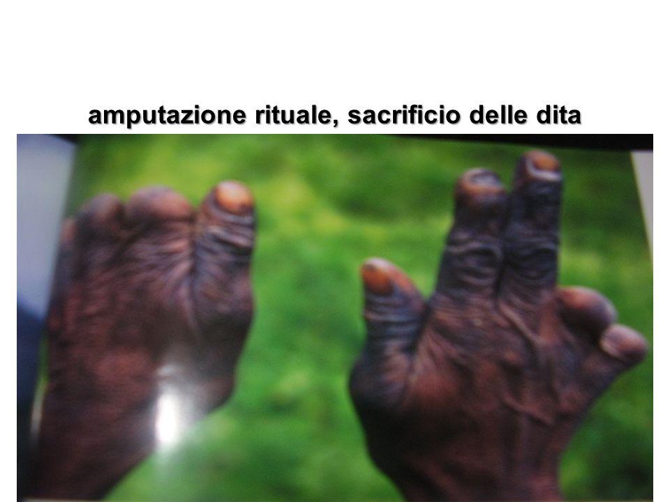 amputazione rituale, sacrificio delle dita