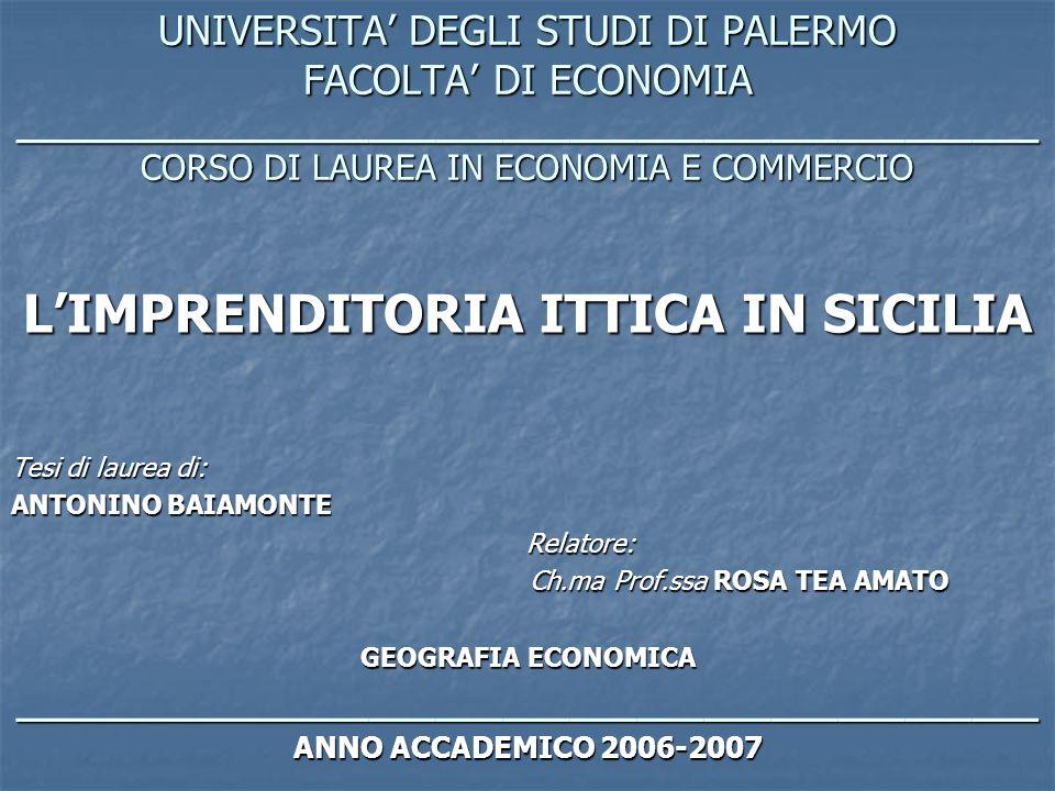 UNIVERSITA DEGLI STUDI DI PALERMO FACOLTA DI ECONOMIA ______________________________________________ CORSO DI LAUREA IN ECONOMIA E COMMERCIO LIMPRENDI