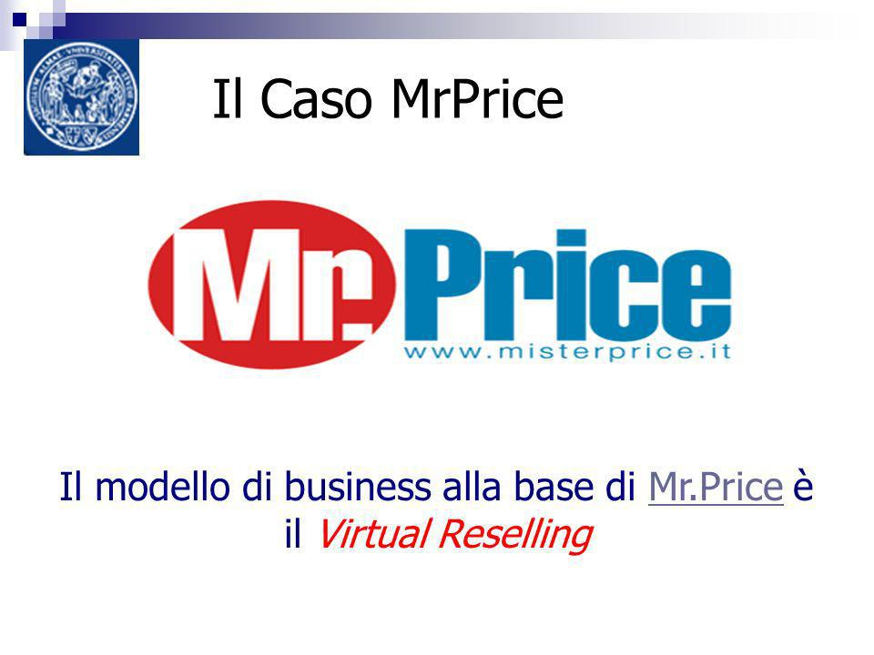Il Caso MrPrice Il modello di business alla base di Mr.Price è il Virtual ResellingMr.Price