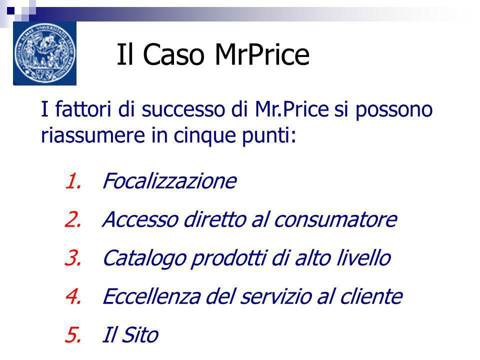 Il Caso MrPrice I fattori di successo di Mr.Price si possono riassumere in cinque punti: 1.