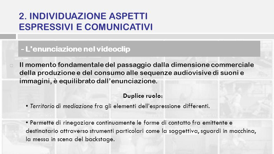 Il momento fondamentale del passaggio dalla dimensione commerciale della produzione e del consumo alle sequenze audiovisive di suoni e immagini, è equ