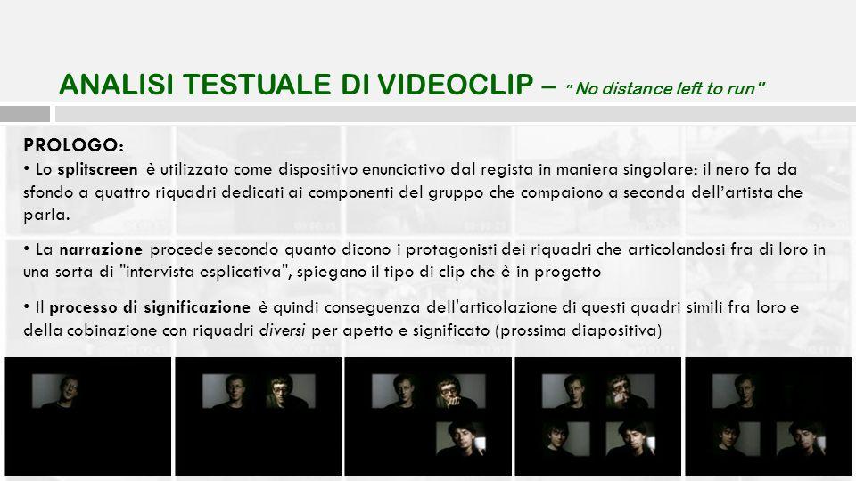 PROLOGO: Lo splitscreen è utilizzato come dispositivo enunciativo dal regista in maniera singolare: il nero fa da sfondo a quattro riquadri dedicati a