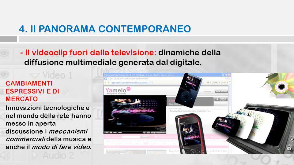 4. Il PANORAMA CONTEMPORANEO - Il videoclip fuori dalla televisione: dinamiche della diffusione multimediale generata dal digitale. Innovazioni tecnol