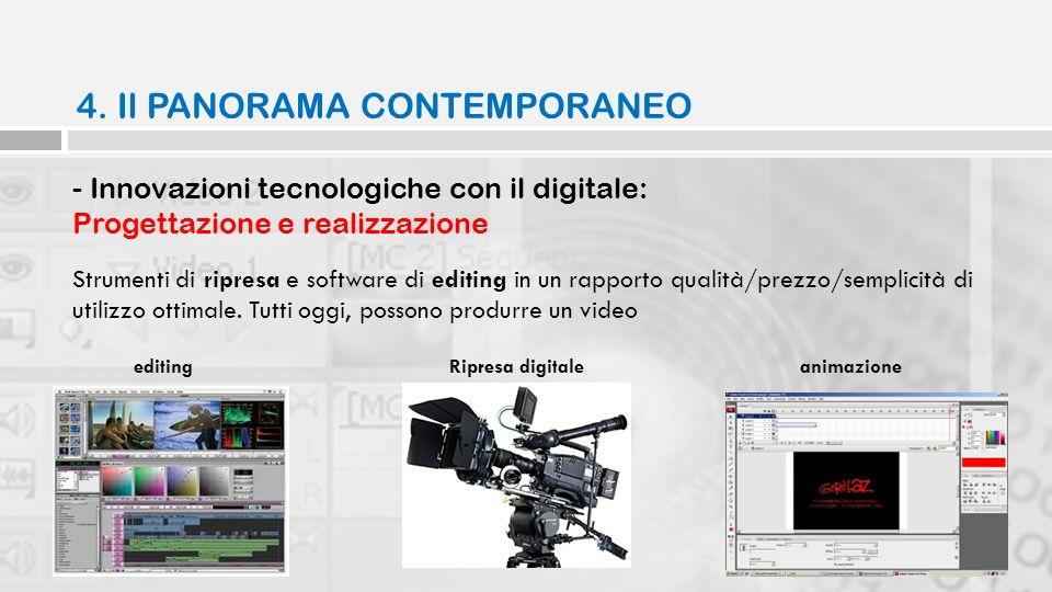 - Innovazioni tecnologiche con il digitale: Progettazione e realizzazione Strumenti di ripresa e software di editing in un rapporto qualità/prezzo/sem
