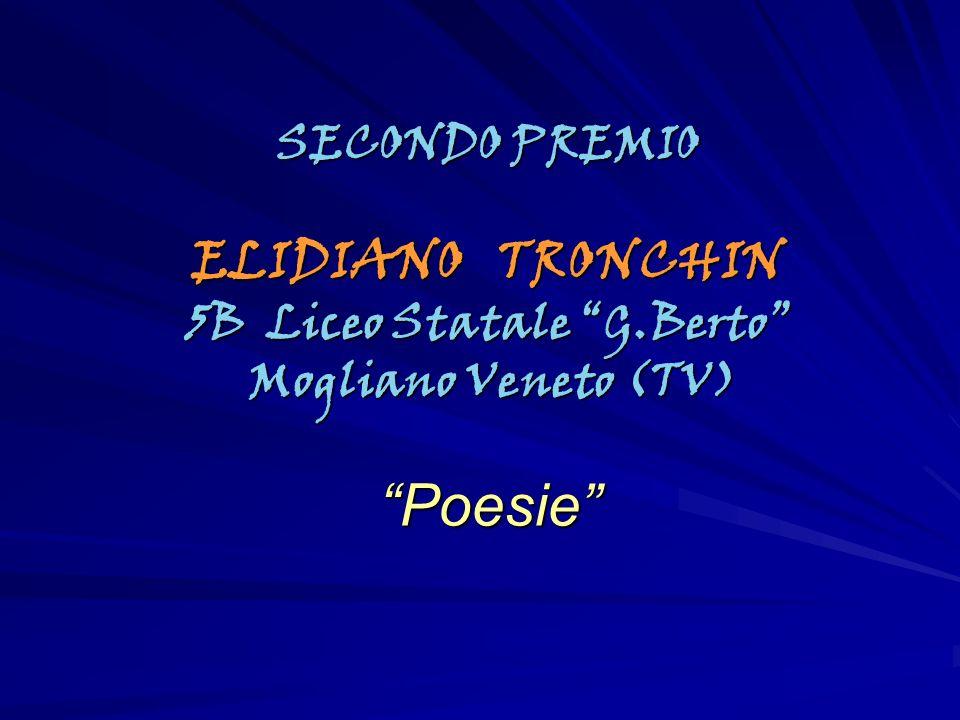 SECONDO PREMIO ELIDIANO TRONCHIN 5B Liceo Statale G.Berto Mogliano Veneto (TV) Mogliano Veneto (TV)Poesie