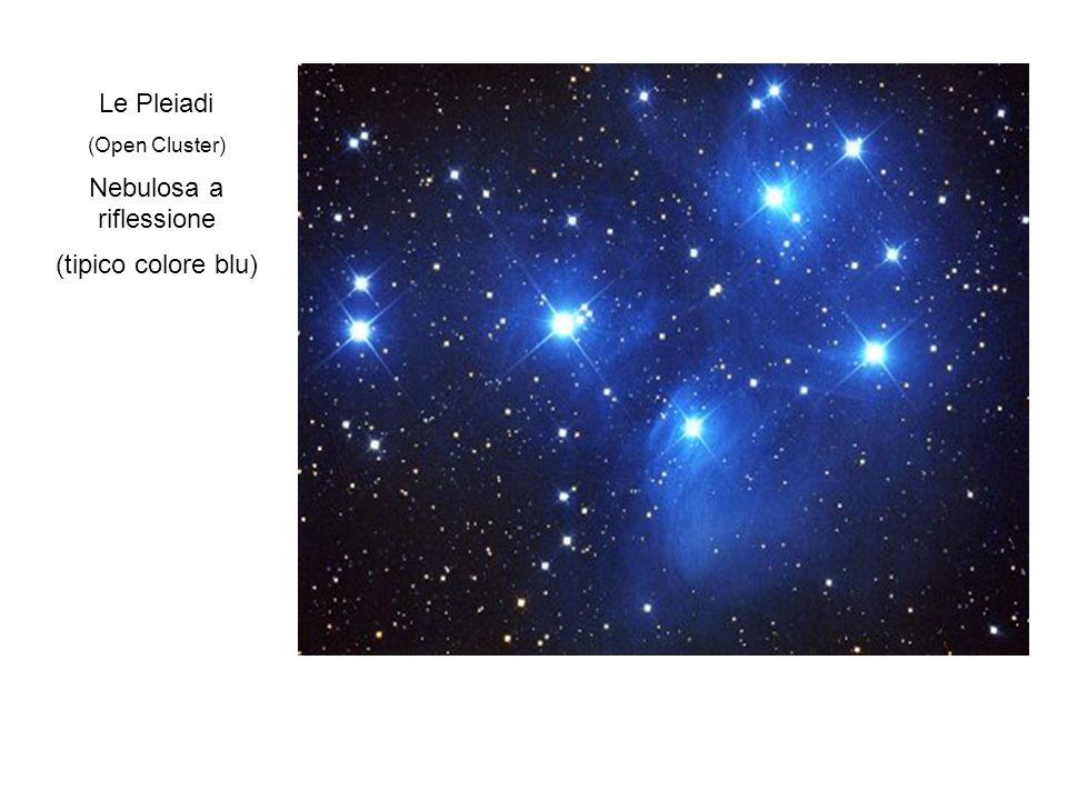Le Pleiadi (Open Cluster) Nebulosa a riflessione (tipico colore blu)