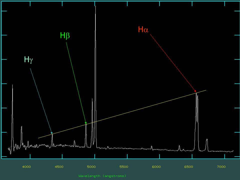 Il Cielo come laboratorio- Spettroscopia delle nebulose- 2008 H H H