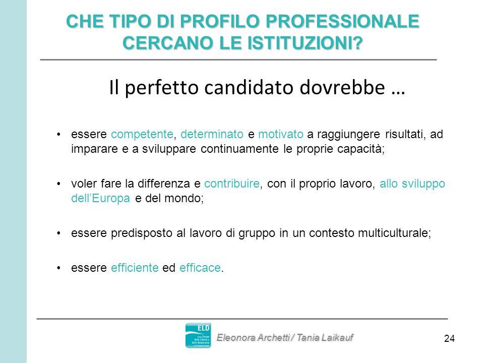 24 CHE TIPO DI PROFILO PROFESSIONALE CERCANO LE ISTITUZIONI.