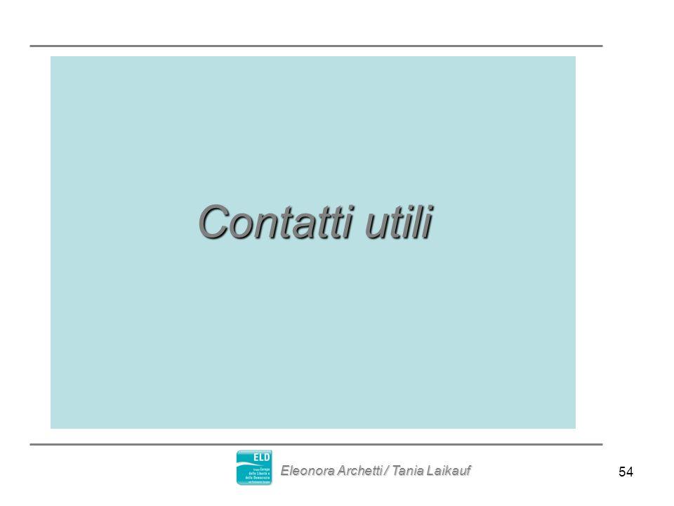 54 Contatti utili Eleonora Archetti / Tania Laikauf